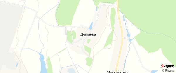 Карта деревни Деминки в Тульской области с улицами и номерами домов