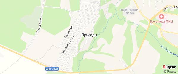 Карта деревни Присады в Московской области с улицами и номерами домов