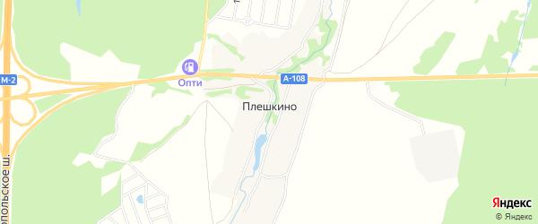 Карта деревни Плешкино города Чехов в Московской области с улицами и номерами домов