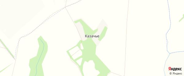 Карта деревни Казачьего в Тульской области с улицами и номерами домов