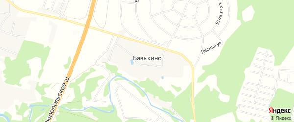 Карта деревни Бавыкино города Чехов в Московской области с улицами и номерами домов