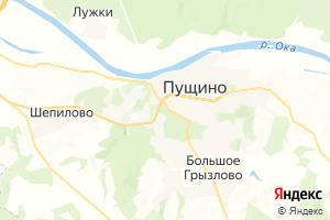 Карта г. Пущино Московская область