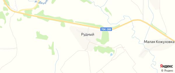 Карта Рудного поселка в Тульской области с улицами и номерами домов