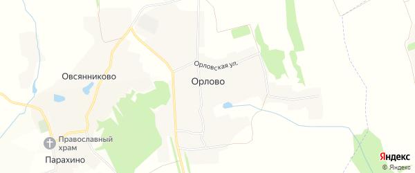 Карта деревни Орлово в Орловской области с улицами и номерами домов