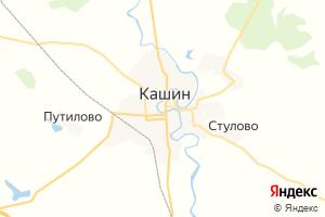 Карта г. Кашин Тверская область
