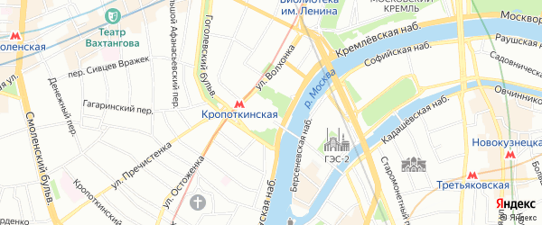 Квартал 26 на карте поселения Киевского с номерами домов