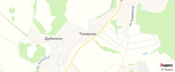 Карта деревни Томарово города Чехов в Московской области с улицами и номерами домов