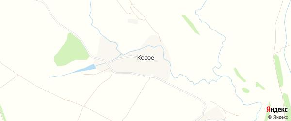 Карта деревни Косого в Тульской области с улицами и номерами домов