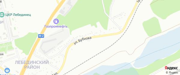 Улица Бубнова на карте Губкина с номерами домов