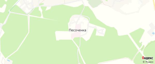 Карта поселка Песоченка города Чехов в Московской области с улицами и номерами домов
