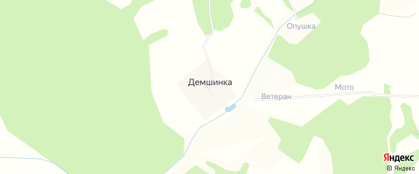 Карта деревни Демшинки в Московской области с улицами и номерами домов