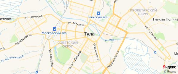 Карта Тулы с районами, улицами и номерами домов