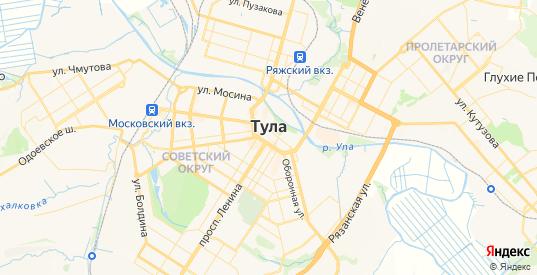 Карта Тулы с улицами и домами подробная. Показать со спутника номера домов онлайн