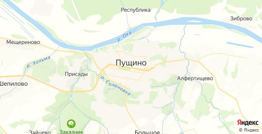 Карта Пущино с улицами и домами подробная. Показать со спутника номера домов онлайн