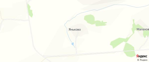 Карта деревни Яньково в Тульской области с улицами и номерами домов