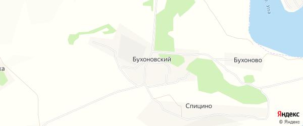 Карта Бухоновского поселка в Тульской области с улицами и номерами домов