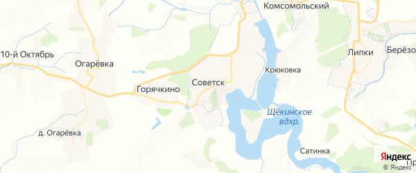 Карта Советска с районами, улицами и номерами домов