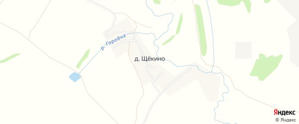 Карта деревни Щекино в Тульской области с улицами и номерами домов
