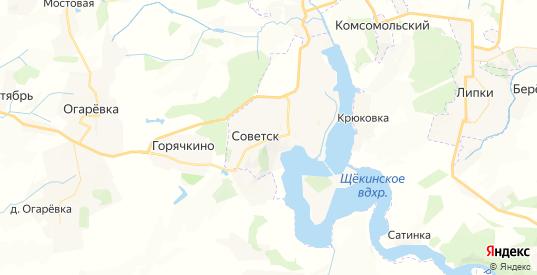 Карта Советска с улицами и домами подробная. Показать со спутника номера домов онлайн