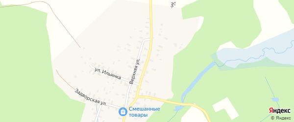Нижняя улица на карте деревни Большей Доры Вологодской области с номерами домов