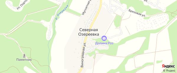Родниковский переулок на карте села Северной Озереевка с номерами домов