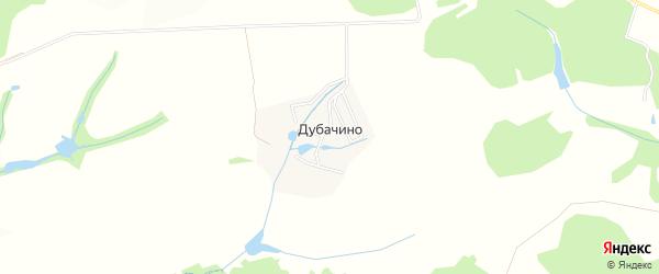 Карта деревни Дубачино в Московской области с улицами и номерами домов