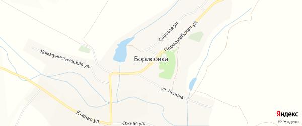 Карта села Борисовки в Белгородской области с улицами и номерами домов