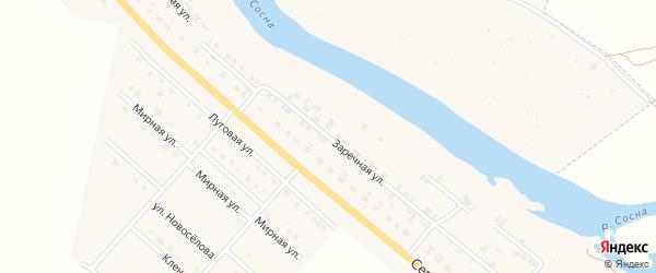 Заречная улица на карте Ямского поселка Орловской области с номерами домов