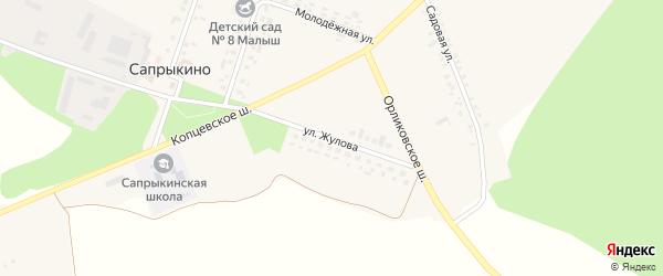 Улица Жулова на карте села Сапрыкино с номерами домов