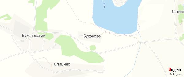 Карта деревни Бухоново в Тульской области с улицами и номерами домов