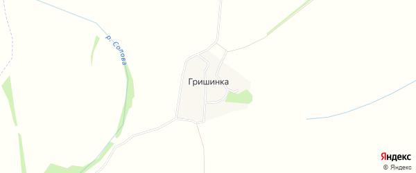 Карта деревни Гришинки в Тульской области с улицами и номерами домов