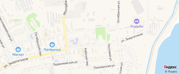 Улица Строителей на карте Советска с номерами домов