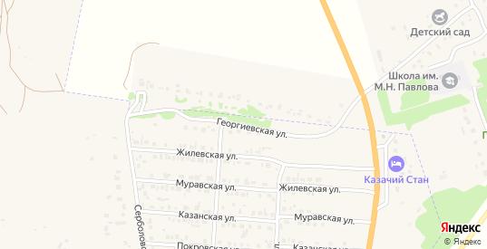 Георгиевская улица в Ливнах с номерами домов на карте. Спутник и схема онлайн