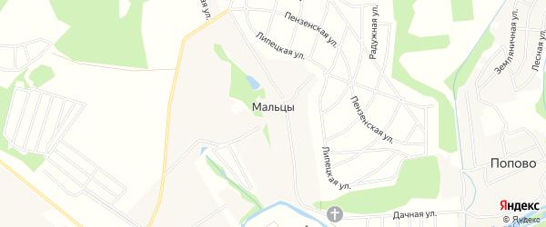 Карта деревни Мальцев города Чехов в Московской области с улицами и номерами домов