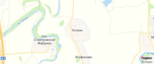 Карта деревни Услонь города Подольска в Московской области с улицами и номерами домов