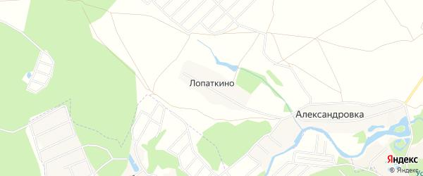 Территория СНТСН Лопатино на карте деревни Лопаткино с номерами домов