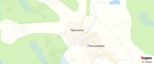 Карта деревни Прокино в Вологодской области с улицами и номерами домов