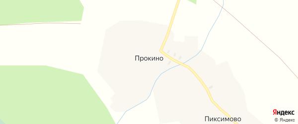 Тополиная улица на карте деревни Прокино Вологодской области с номерами домов