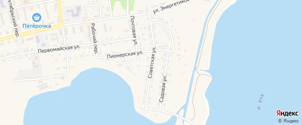 Советская улица на карте Советска с номерами домов