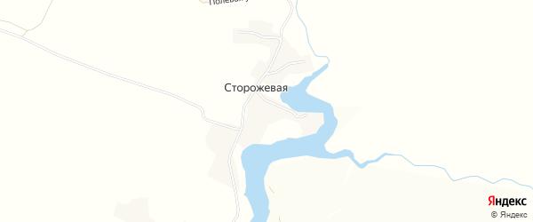 Карта Сторожевой деревни в Орловской области с улицами и номерами домов