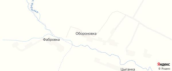 Карта поселка Обороновки в Орловской области с улицами и номерами домов