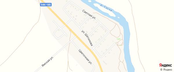 Улица Шатилова на карте Ямского поселка Орловской области с номерами домов