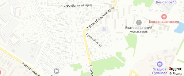 Луговой проезд на карте Видного с номерами домов