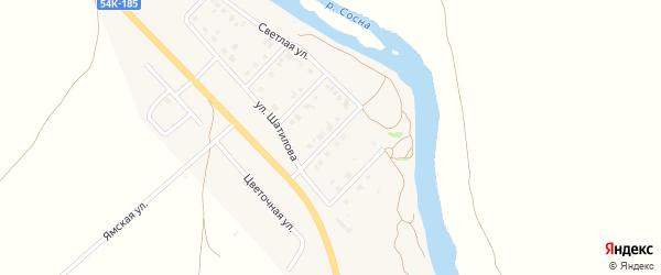 Закатный переулок на карте Ямского поселка Орловской области с номерами домов