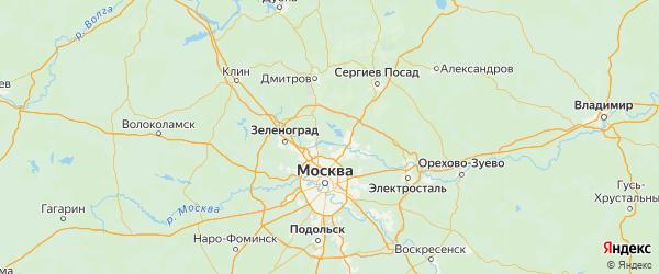 Карта городского округа Мытищи Московской области с городами и населенными пунктами