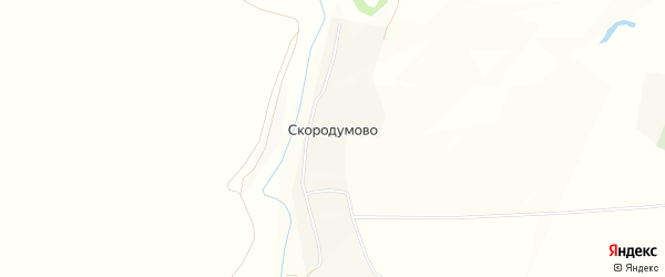 Карта деревни Скородумово в Тульской области с улицами и номерами домов