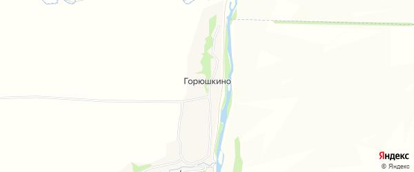Карта деревни Горюшкино в Орловской области с улицами и номерами домов