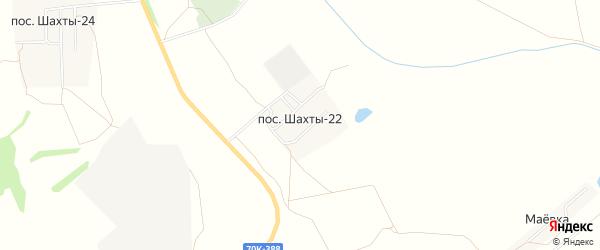 Карта поселка Шахт 22 в Тульской области с улицами и номерами домов