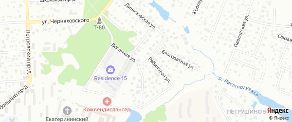 Весенняя улица на карте Видного с номерами домов