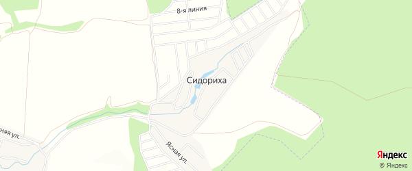 Карта деревни Сидориха города Чехов в Московской области с улицами и номерами домов